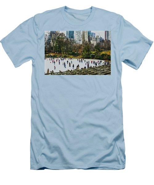 Skating At Central Park Men's T-Shirt (Athletic Fit)