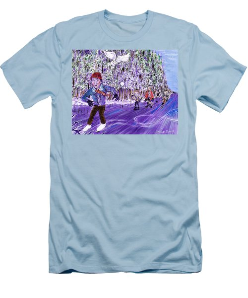 Skating On Thin Ice Men's T-Shirt (Athletic Fit)