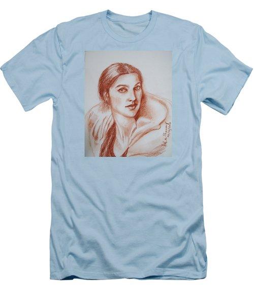 Sketch In Conte Crayon Men's T-Shirt (Athletic Fit)