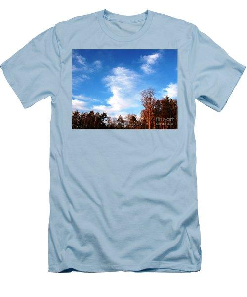 Sky Study 1 3/11/16 Men's T-Shirt (Slim Fit) by Melissa Stoudt