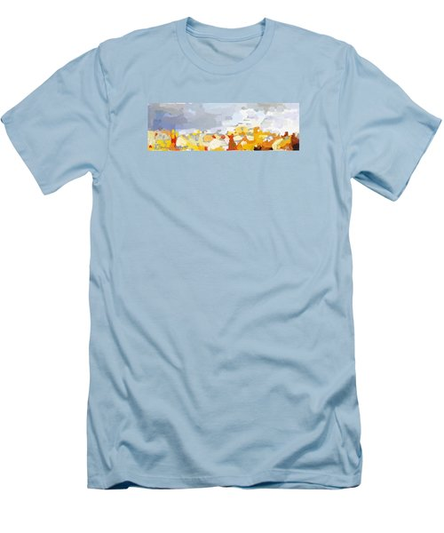 Skyline Cambridge, Uk Men's T-Shirt (Slim Fit) by Melissa Abbott