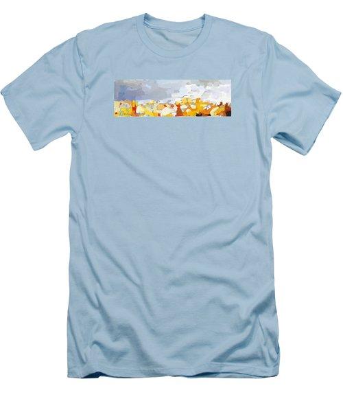 Skyline Cambridge, Uk Men's T-Shirt (Slim Fit)