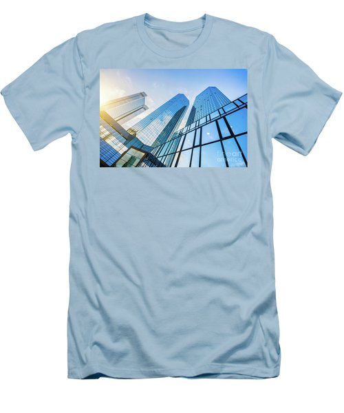 Skyscrapers Men's T-Shirt (Slim Fit) by JR Photography
