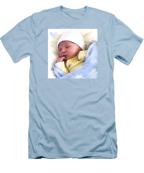 Sleeping Babe Men's T-Shirt (Slim Fit) by Karen Lewis