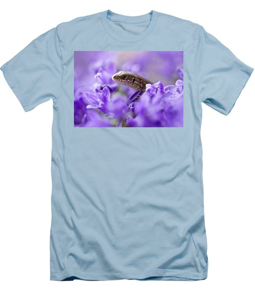 Small Lizard Men's T-Shirt (Slim Fit) by Jaroslaw Blaminsky