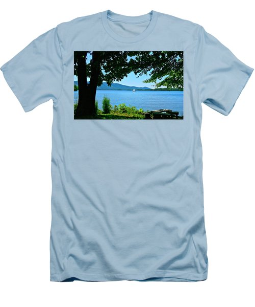 Smith Mountain Lake Sailor Men's T-Shirt (Slim Fit) by The American Shutterbug Society