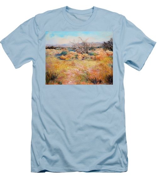 Smokey Day Men's T-Shirt (Slim Fit) by M Diane Bonaparte
