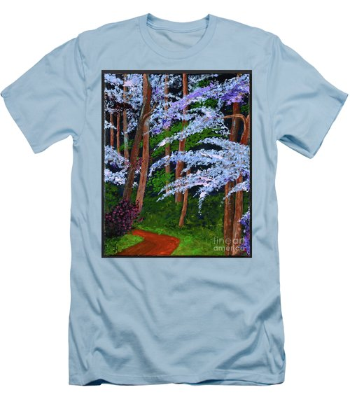 Smokey Mtn. Trail Men's T-Shirt (Athletic Fit)