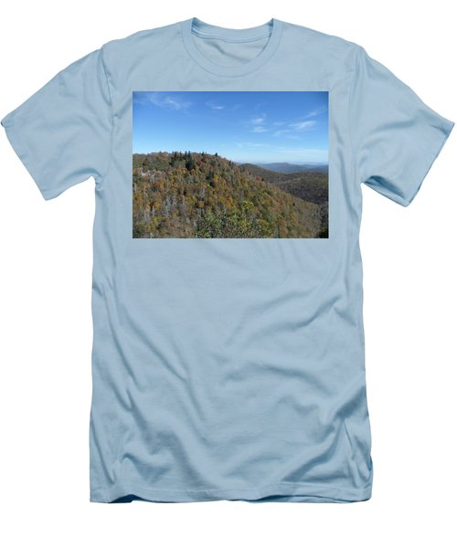 Smokies 7 Men's T-Shirt (Slim Fit) by Val Oconnor