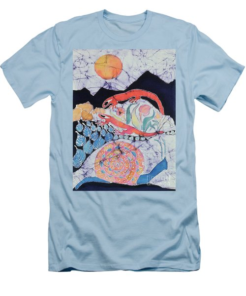 Snail With Red Efts Men's T-Shirt (Slim Fit)