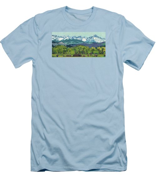 Sneffels Range Spring Men's T-Shirt (Slim Fit) by Dan Miller