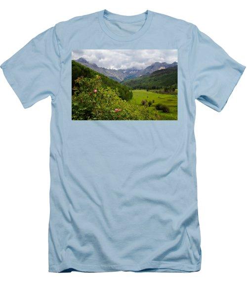 Sneffles Range Men's T-Shirt (Slim Fit) by Lana Trussell