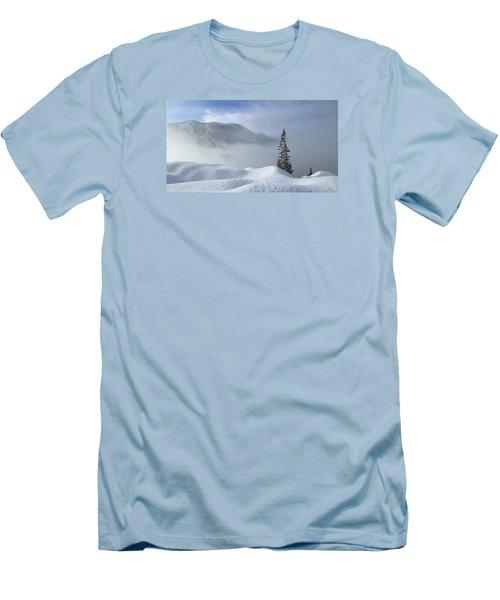 Snow And Silence Men's T-Shirt (Slim Fit) by Lynn Hopwood
