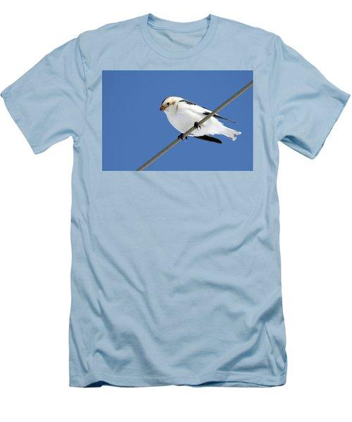 Snow Bunting Men's T-Shirt (Slim Fit) by Brook Burling