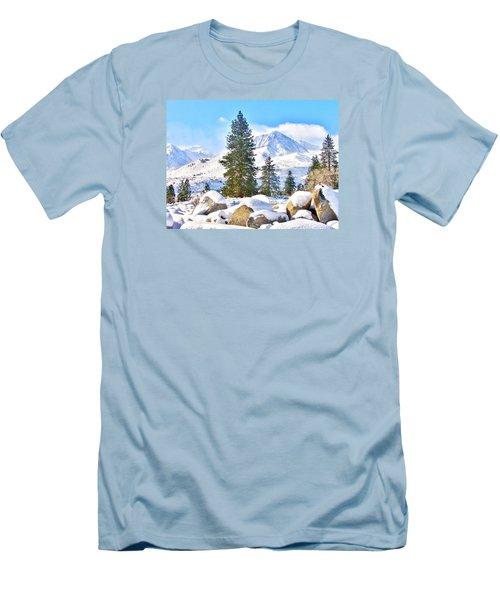 Snow Cool Men's T-Shirt (Slim Fit) by Marilyn Diaz