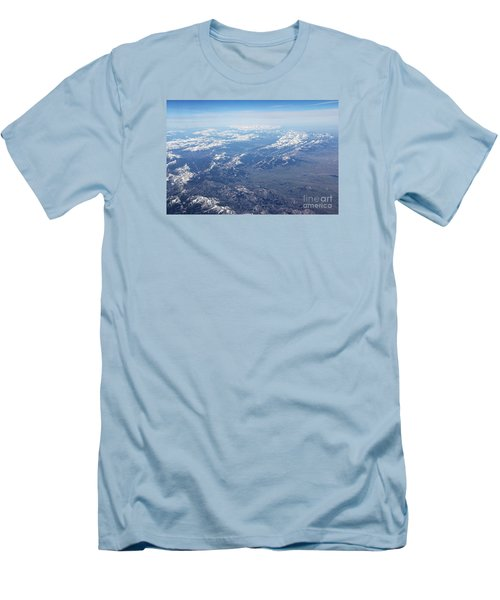 Snow Covered Rocky  Men's T-Shirt (Slim Fit) by Yumi Johnson