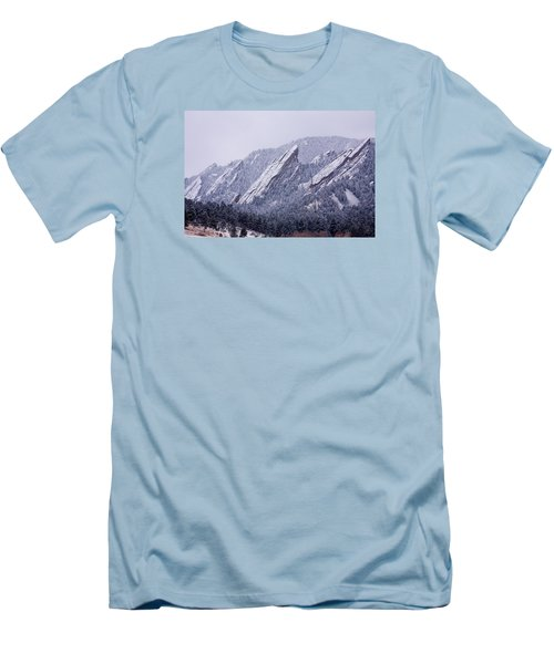 Snow Dusted Flatirons Boulder Colorado Men's T-Shirt (Slim Fit) by James BO  Insogna