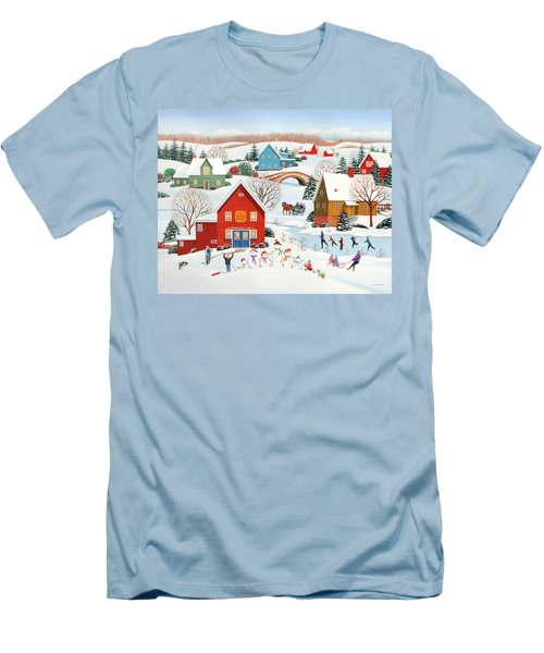 Snow Family  Men's T-Shirt (Slim Fit) by Wilfrido Limvalencia