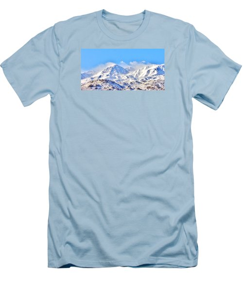 Snow Men's T-Shirt (Slim Fit) by Marilyn Diaz