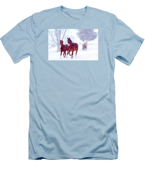 Snow Run Men's T-Shirt (Athletic Fit)