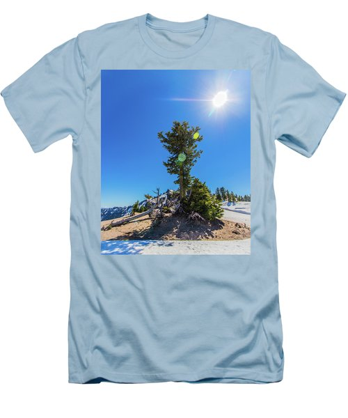 Men's T-Shirt (Athletic Fit) featuring the photograph Snow Tree by Jonny D