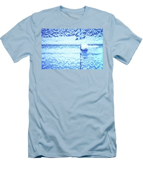 Men's T-Shirt (Slim Fit) featuring the photograph Snow Van 51 Chevy Panel by Laurie Stewart