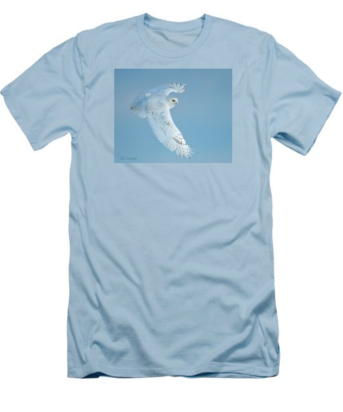 Snowy Against Blue Sky Men's T-Shirt (Slim Fit) by CR  Courson