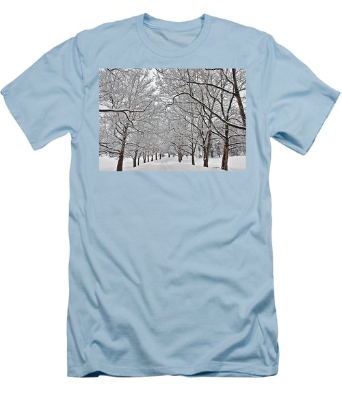 Snowy Treeline Men's T-Shirt (Athletic Fit)