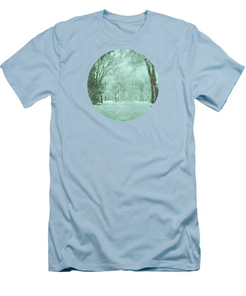 Snowy Winter Night Men's T-Shirt (Slim Fit) by Mary Wolf
