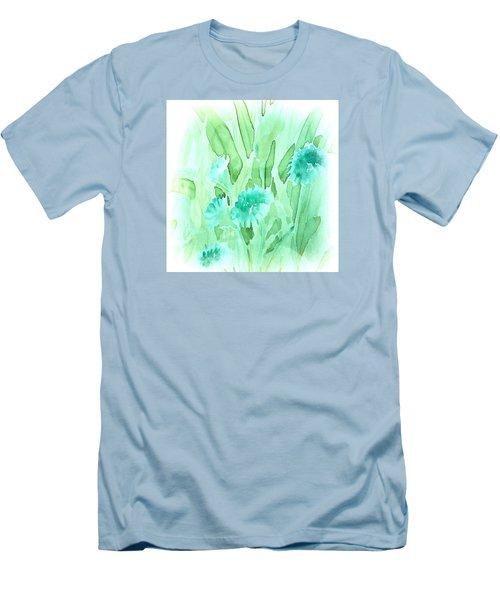 Soft Watercolor Floral Men's T-Shirt (Athletic Fit)