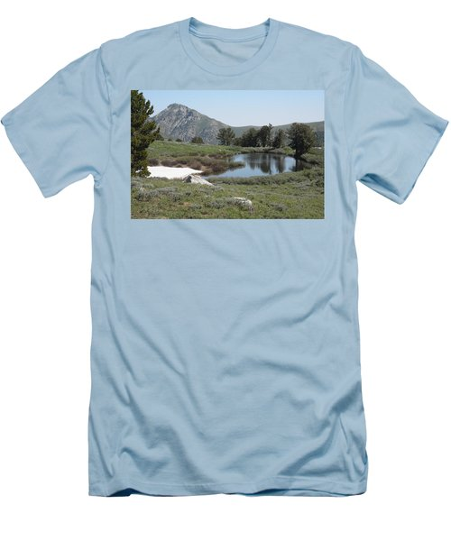 Soldier Lake And Peak Men's T-Shirt (Slim Fit) by Jenessa Rahn
