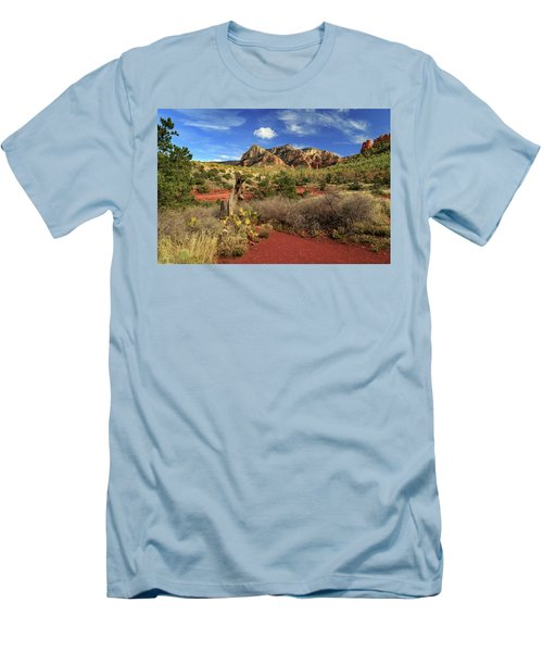 Men's T-Shirt (Athletic Fit) featuring the photograph Some Cactus In Sedona by James Eddy