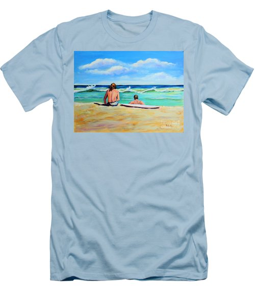 Men's T-Shirt (Slim Fit) featuring the painting Some Things Never Change by Patricia Piffath