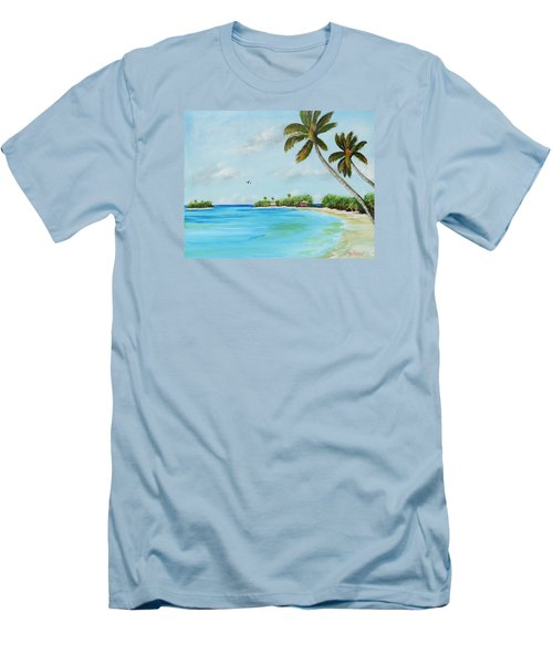 Somewhere In Paradise Men's T-Shirt (Slim Fit) by Lloyd Dobson