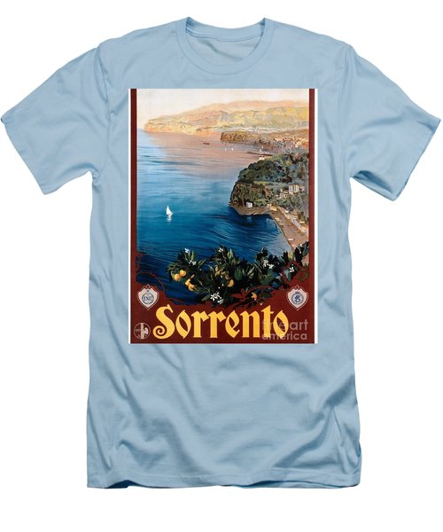 Men's T-Shirt (Slim Fit) featuring the painting Sorrento - Poster by Pg Reproductions
