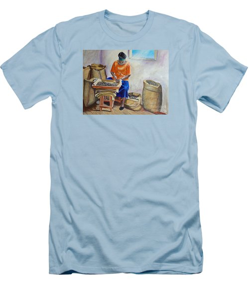 Sorting Nutmegs Men's T-Shirt (Slim Fit) by Laura Forde