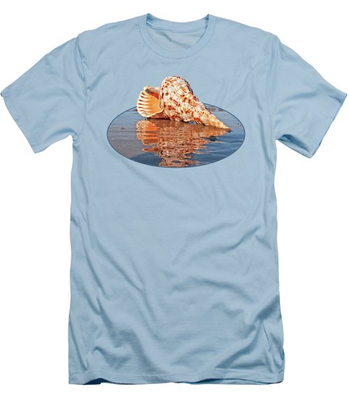 Sounds Of The Ocean - Trumpet Triton Seashell Men's T-Shirt (Athletic Fit)