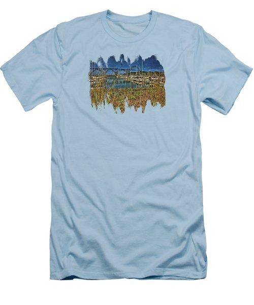 South Beach Marina Men's T-Shirt (Slim Fit) by Thom Zehrfeld