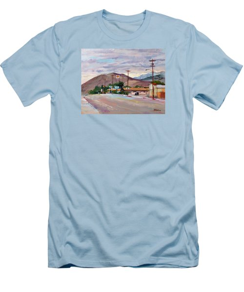 South On Route 395, Big Pine, California Men's T-Shirt (Athletic Fit)
