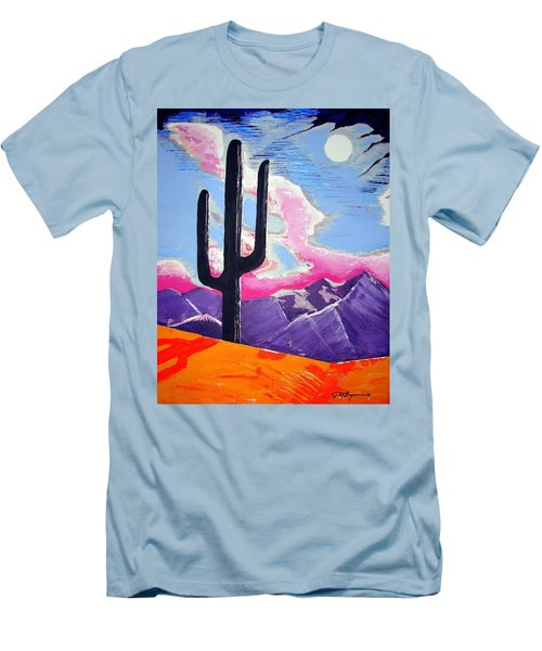 Men's T-Shirt (Slim Fit) featuring the painting Southwest Skies 2 by J R Seymour
