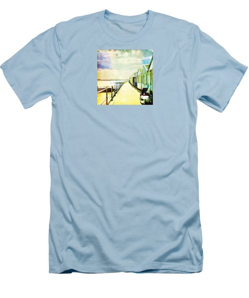 Men's T-Shirt (Athletic Fit) featuring the photograph Southwold Beach Huts by Anne Kotan