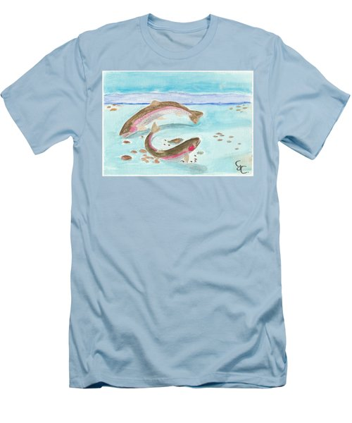 Spawning Rainbows Men's T-Shirt (Slim Fit) by Gareth Coombs