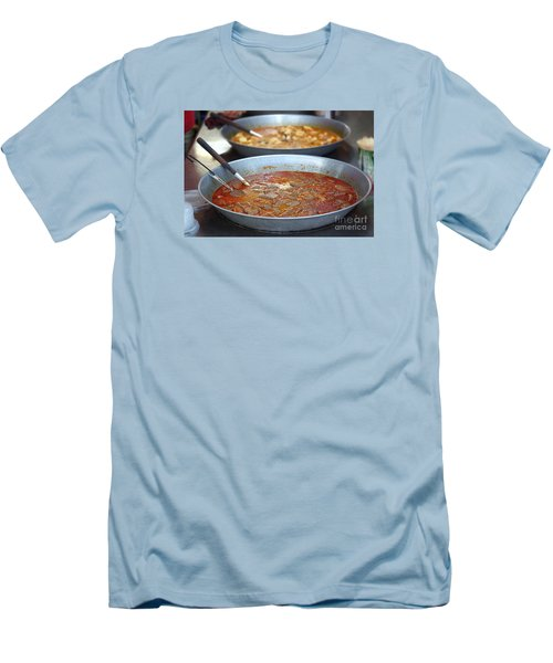 Spicy Duck Blood Soup Men's T-Shirt (Slim Fit)