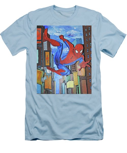 Spiderman Swings Men's T-Shirt (Athletic Fit)