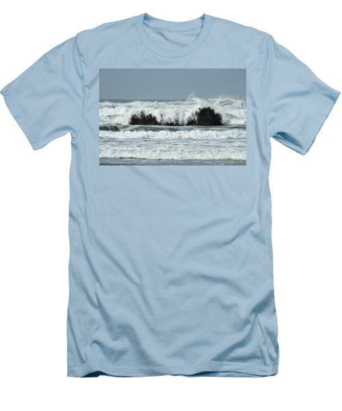 Men's T-Shirt (Athletic Fit) featuring the photograph Splash by Peggy Hughes