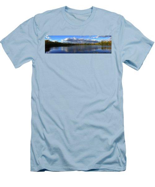 Splendid Autumn View Panoramic Men's T-Shirt (Athletic Fit)