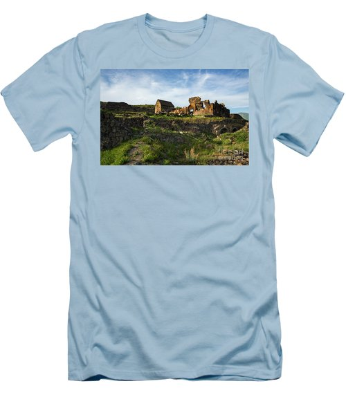 Splendid Ruins Of St. Sargis Monastery In Ushi, Armenia Men's T-Shirt (Athletic Fit)