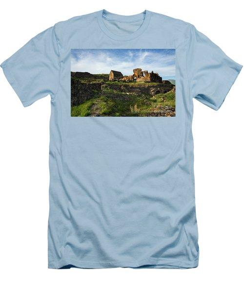 Splendid Ruins Of St. Sargis Monastery In Ushi, Armenia Men's T-Shirt (Athletic Fit)