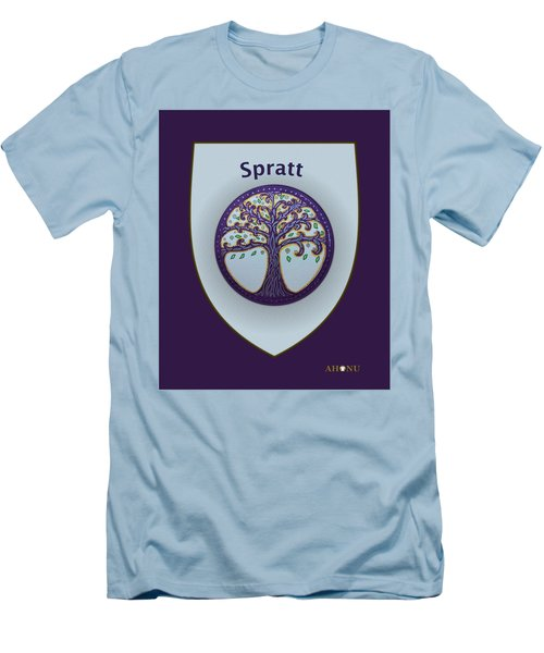 Spratt Family Crest Men's T-Shirt (Athletic Fit)