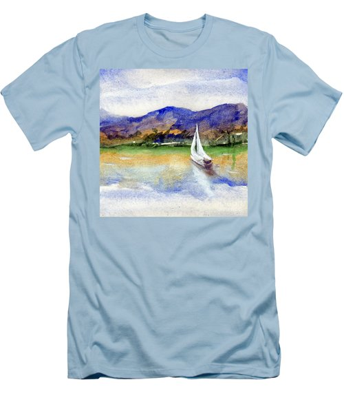 Spring At Our Island Men's T-Shirt (Slim Fit) by Randy Sprout